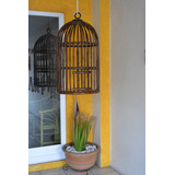 Jaula Decorativa En Bambú Modelo: Lilis