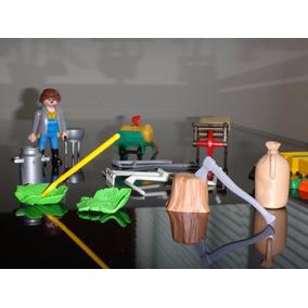 Kit Playmobil Fazendeiro Com Todos Os Acessorios Das Fotos