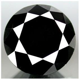 Diamante Negro 2.4 Cts Redondo 100% Natural Certificado