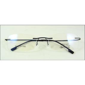 67a22cb8a9638 Armação Discreta Preta Invisível Óculos Grau Titanium A437 · R  69 99