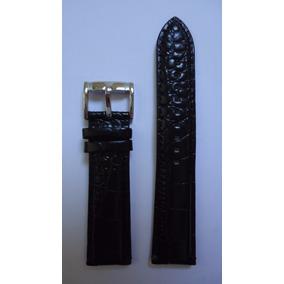 Pulseira Couro Emporio Armani Preta 22mm Relógio Textura