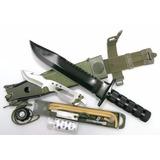 Faca Com Kit Sobrevivencia Completo Bussola Nautika Platoon