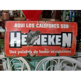 Cartel Enlozado Antiguo Heineken