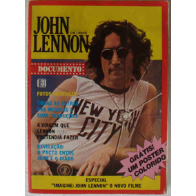 Revista Som Três John Lennon Documento + Disco + Poster