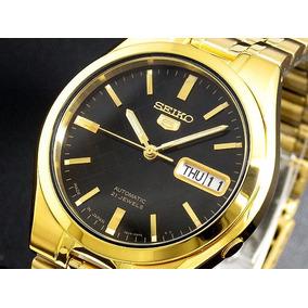 Seiko Para Hombre Automatico Reloj Fecha Oro/negro Original