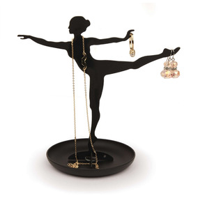 Kikkerland Casa Stand Para Joyería Diseño De Ballerina