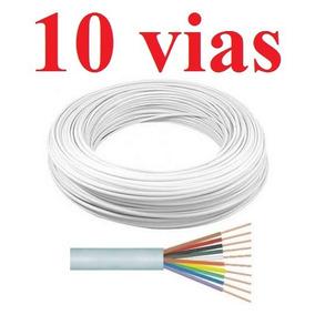 Cabo Alarme 10 Vias 0,4mm Branco 100m Interfone Mts Multitoc