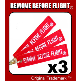 3 Llaveros Remove Before Flight ® Combo