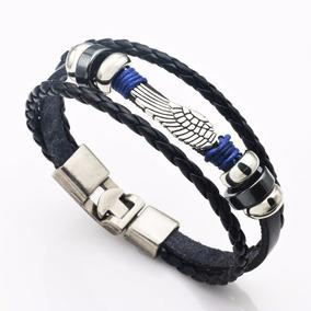 Pulseira Bracelete Masculino Asas De Anjo