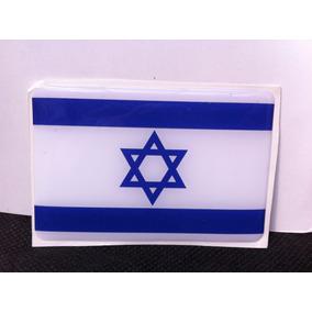 Adesivo Resinado Da Bandeira De Israel 9 Cm Por 6 Cm