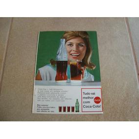 Propaganda Antiga Bebidas Coca Cola 1968 Refrigerante 3