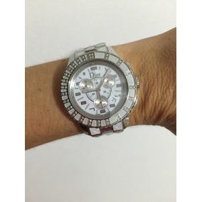 241288fc40b Relógio Dior Brilhantes E Safiras Brancas