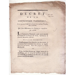 Terror Revolução Francesa 1793 Decreto Convenção Nacional