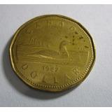 Antigua Moneda 1987 Canada Dollar Elizabeth 2