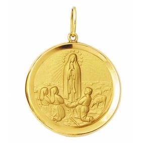 Pingente Nossa Senhora De Fatima Ouro 18k Leilao - Joias e ... b67230c830