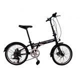 Bicicleta Dobrável Krooma Limited Disco Preta