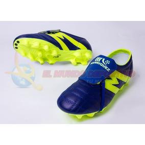 2232-zapato De Futbol Manriquez Profesional Marino neon e910654fa2281