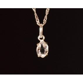 Colar Atenção Do Olho Diamantt De Prata