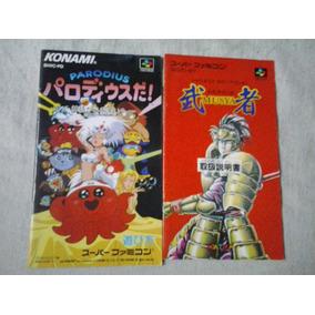 Manual Jogo Nintendo Famicon Musya - Parodius - Nintendo