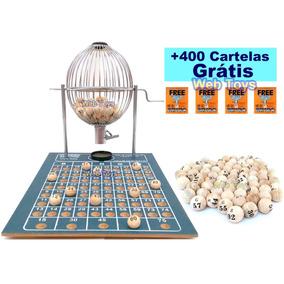 Bingo Nº 2 (médio) Cromado Completo 75 Bolas + 400 Cartelas
