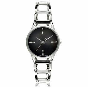 Relógio Vox Feminino Pulseira Em Aço Prata, Detalhes Em Zirc