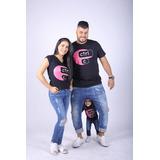 Kit Família Camisetas Ctrl-c E Ctrl-v Pretas