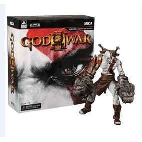 Boneco Articulado Kratos Ultimate Edition + Acessórios Neca