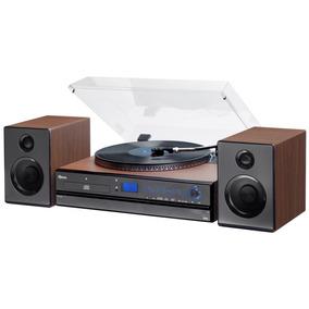 Toca Discos Aria Bluetooth Lp Fm Usb Gravação Raveo Vitrola