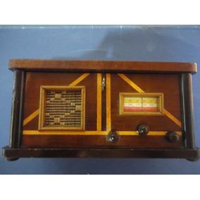 Charmoso Porta Joia Baú Imitação Rádio Antigo