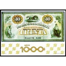 Selo Banco Do Brasil 30 Mil Réis Ano 1976 Comemorativo
