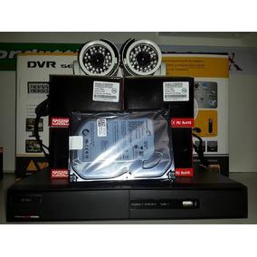 Kit Hikivision 4 Câmeras Infra Vermelho Cftv Monitoramento