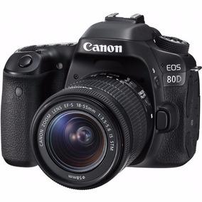 Câmera Canon Eos 80d Dslr Ef-s 18-55mm Stm 24.2 12x S/juros
