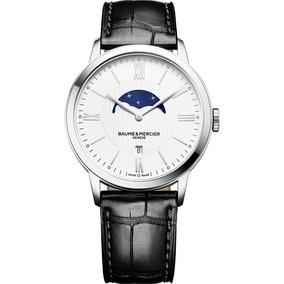 Reloj Baume & Mercier Classima Piel Zafiro 10219 Fase Lunar