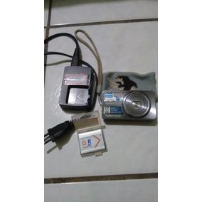 Camera Sony Seminova Cybershot 16.1 Megapixels Filmes E Zoom