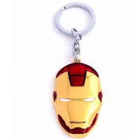 Chaveiro Homem De Ferro Iron Man Mascara Capacete Em Metal