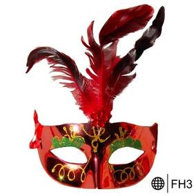 12 Pzas Antifaz Fiesta Plumas Carnaval Batucada Disfraz Mod2