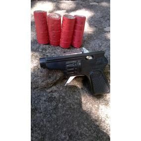 Pistola De Juguete 8,5 Cm + 20 Rollos Cebitas De Papel