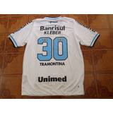 Camisa Grêmio Branco Jogo 30 Kleber Tamanho G