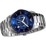 c7bccc6a65372 Relógio Emporio Armani Ar5860 Prata Azul Lindo Frete Gratis