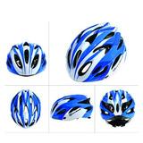 Capacete Ciclismo Rockbross - Pronta Entrega - Azul E Branco