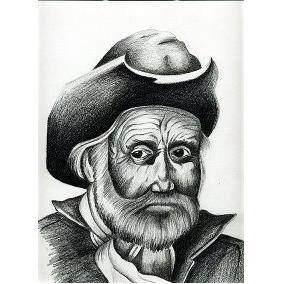Dibujo A Lápiz Anciano Indio Tarahumara En Mercado Libre México
