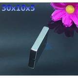 Super Ima Em Retangulo De Neodimio N50 30x10x5 Mm 20 Pçs