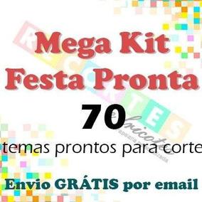 dfef074ec88e8 Mega Kit Festa Pronta - 97 Temas Para Silhouette Envio 2 Min