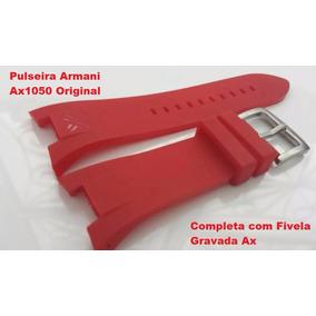 16193349ecea3 Armani Exchange Relógio Vermelho Ax1172 Lançamento Frete Grá ...