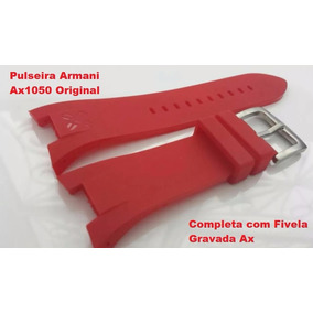 bb3a7a197081c Armani Exchange Relógio Vermelho Ax1172 Lançamento Frete Grá ...