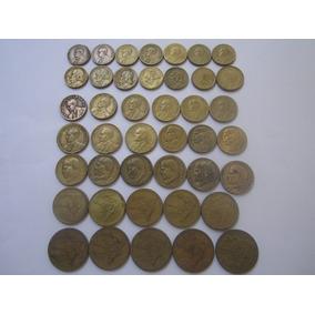 Brasil 42 Moedas Bronze Alumínio