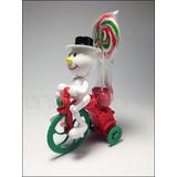 A64 Snowman Trike Lollypop Adorno Muñeco Nieve Navidad Cuerd