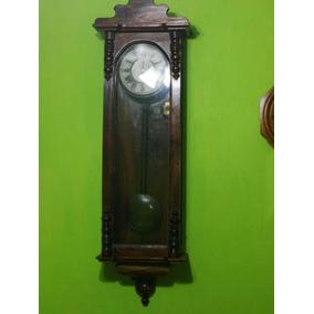 Reloj De Caratula Madera Dos Cuerdas Precioso Mas 100 Años