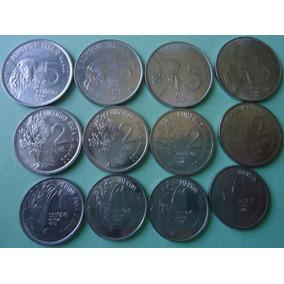 Moedas De 1, 2, 5 Centavos Fao 1975,1976,1977,1978 Completa