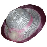 Sombrero Capelina Para Nina Bautismo en Mercado Libre Argentina 0c482ac43ae